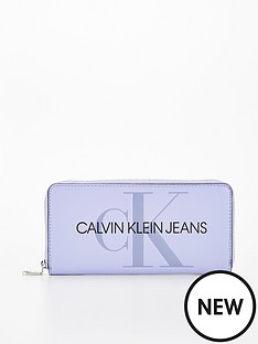 calvin-klein-jeans-zip-around-purse-lilac