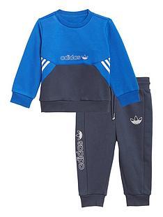 adidas-originals-unisex-infant-crew-neck-top-amp-joggersnbspset-blue