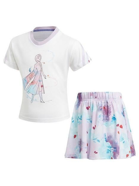 adidas-girls-younger-frozen-t-shirtnbspset-white