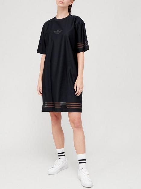 adidas-originals-bellista-t-shirtnbspdress-black