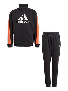 adidas-boys-juniornbspbadge-of-sport-cotton-tracksuit-blackorange