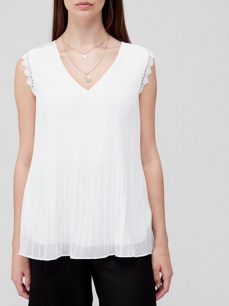 v-by-very-lace-back-plisse-blouse-ivory