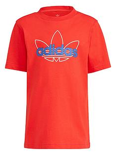 adidas-originals-unisex-younger-short-sleeve-t-shirt-red