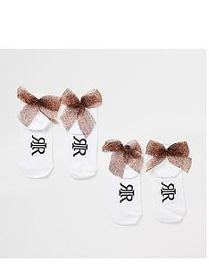 river-island-girls-2-pack-leopard-bow-socks-white