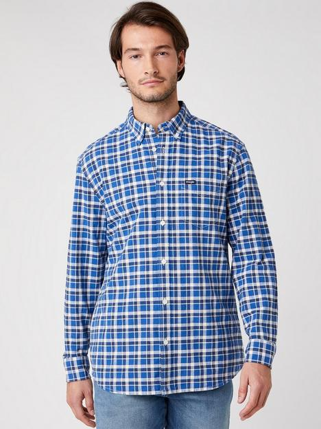 wrangler-long-sleeved-button-down-shirt-navy