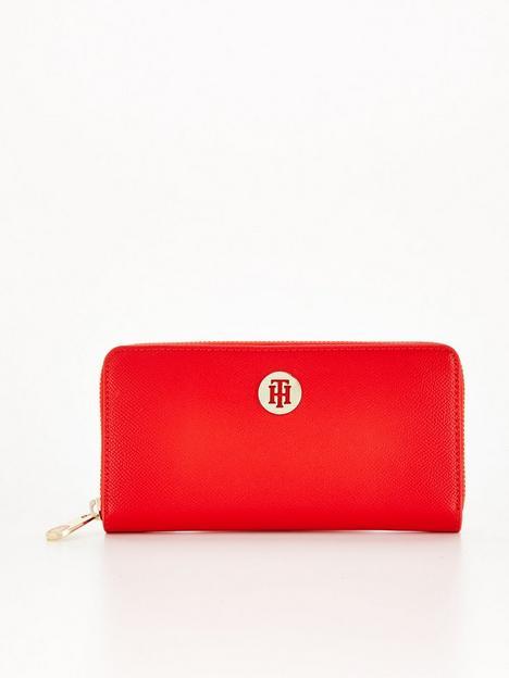 tommy-hilfiger-honey-large-zip-around-purse-red