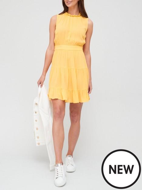 v-by-very-lightweightnbspcrinkle-summer-skater-dress-yellow