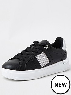 river-island-heatseal-lace-up-trainer-black