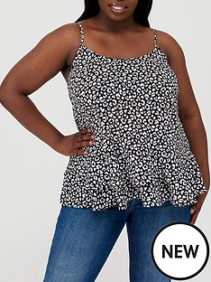 v-by-very-curve-double-layer-woven-cami-animal