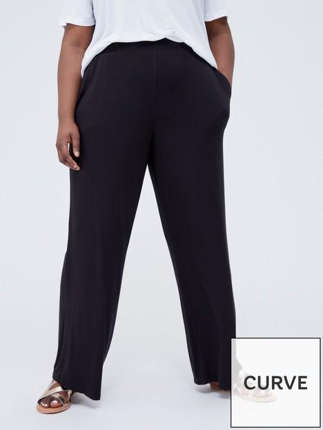 v-by-very-curve-shirred-waist-wide-leg-jersey-trouser-blacknbsp