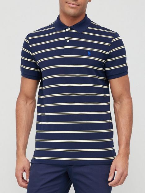 polo-ralph-lauren-golf-short-sleeve-stripe-knit-pique-polo-navynbsp
