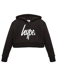 hype-girls-core-cropped-script-hoodie-black