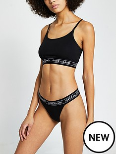river-island-crop-top-knicker-set-plain
