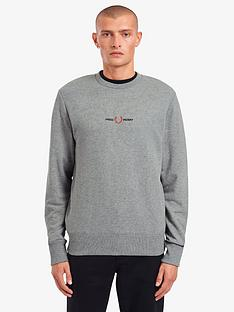 fred-perry-embroidered-logo-sweatshirt-grey-marl