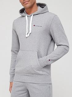 champion-small-logo-overhead-hoodie-grey