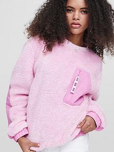 ugg-niko-sherpa-crewneck-sweatshirt-pink