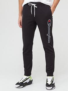 champion-logo-joggers-black