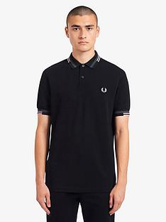 fred-perry-abstract-tipped-polo-shirt-black