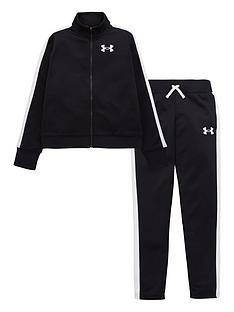 under-armour-girlsnbspknit-tracksuit-black