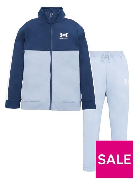 under-armour-boys-colour-block-knit-track-suit-blue