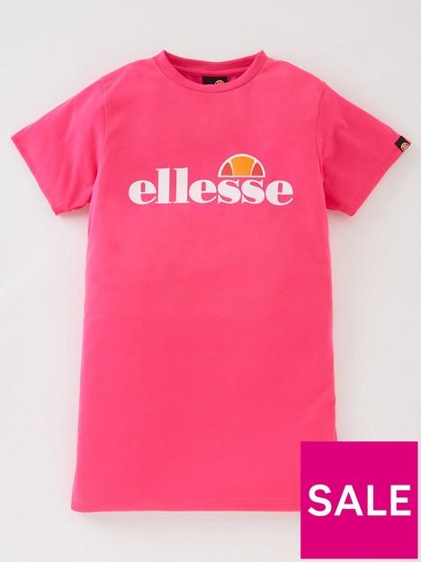 ellesse-older-girls-smu-t-shirtnbspdress-pink