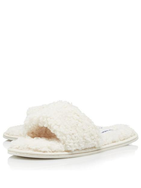 dune-london-snuggled-slippers-cream