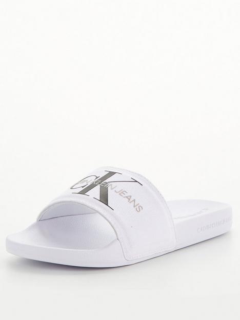 calvin-klein-jeans-monogram-logo-sliders-white
