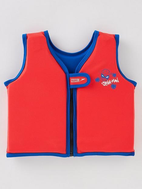 speedo-younger-boys-marvel-spiderman-learn-to-swim-swim-float-vest-redblue