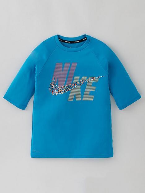 nike-boysnbsppixel-party-short-sleeve-hydroguard-t-shirt-blue