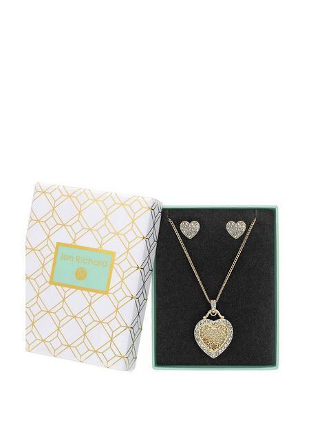 jon-richard-gold-plated-crystal-heart-filigree-mother-of-pearl-set