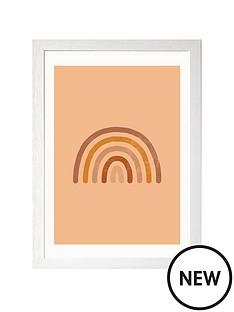 east-end-prints-boho-rainbow-by-sundry-society-a3-framed-print