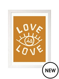 east-end-prints-love-is-love-by-tree-x-three-a3-framed-print