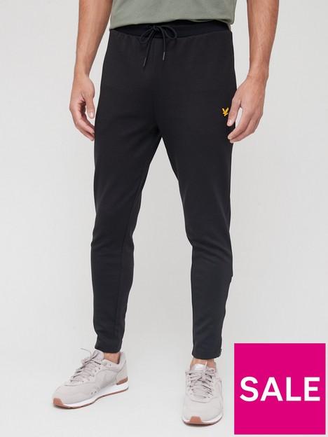 lyle-scott-fitness-fly-fleece-trackies-black