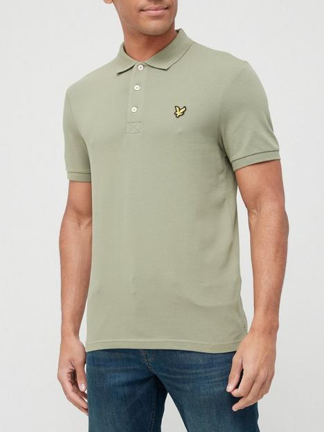 lyle-scott-plain-polo-shirt-moss