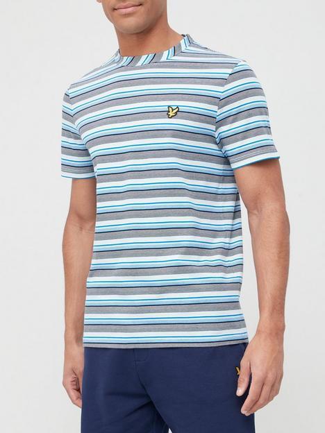 lyle-scott-multi-stripe-t-shirt-blue