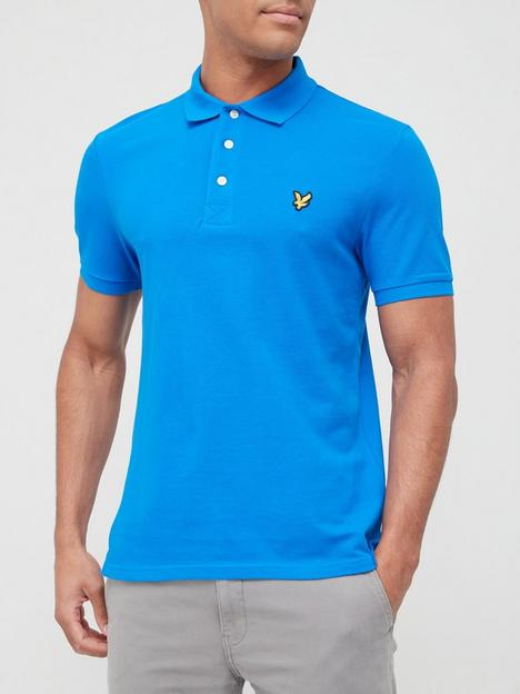 lyle-scott-plain-polo-shirt-cobaltnbsp