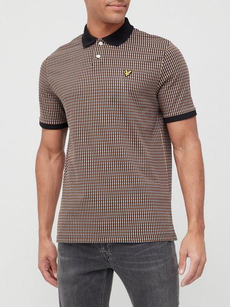 lyle-scott-retro-repeat-knitted-polo-shirt-brown