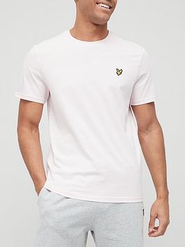 lyle-scott-plain-t-shirt-pink