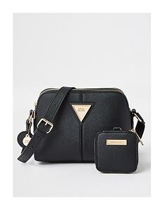 river-island-triangle-pouch-small-double-black