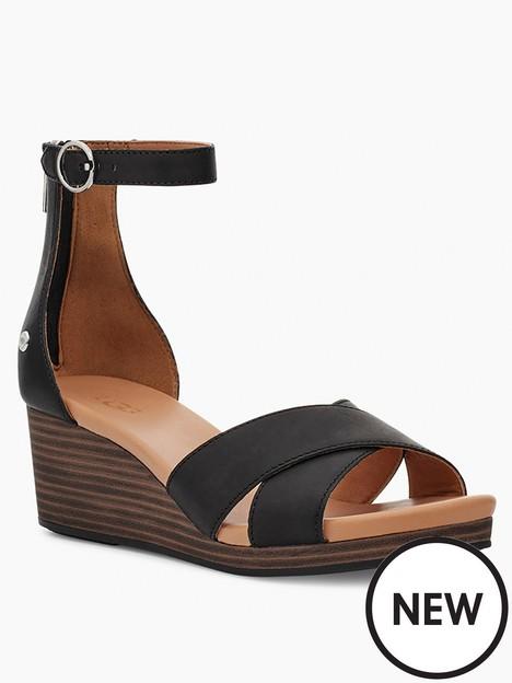 ugg-eugenia-wedge-sandal--nbspblack