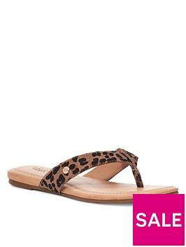 ugg-tuolumne-leopard-flip-flop-tan