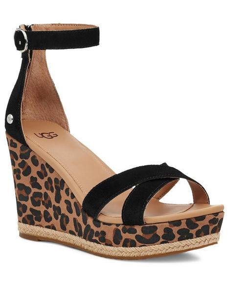 ugg-ezrah-leopard-wedge-sandal--nbspblack-tan