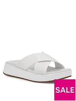 ugg-emily-mesh-flat-sandal-white