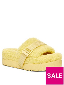 ugg-fluffita-slipper-yellow