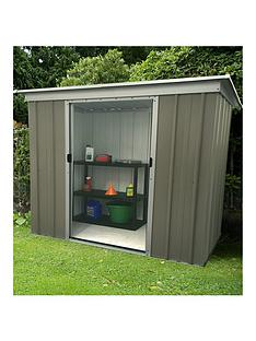 yardmaster-yardmaster-6-x-4-ft-platinum-tall-metal-pent-roof-shed-with-floor-frame-kit