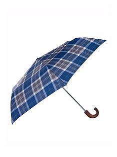 barbour-tartan-umbrella-multi