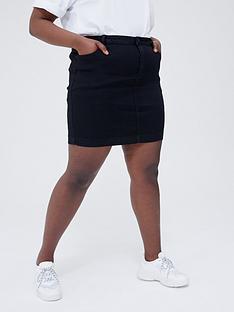 missguided-plus-missguided-plus-superstretch-denim-mini-skirt-black