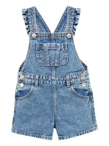 mini-v-by-very-girls-essentials-short-denim-dungaree-blue
