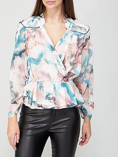 river-island-whitney-mineral-print-wrap-top-pink