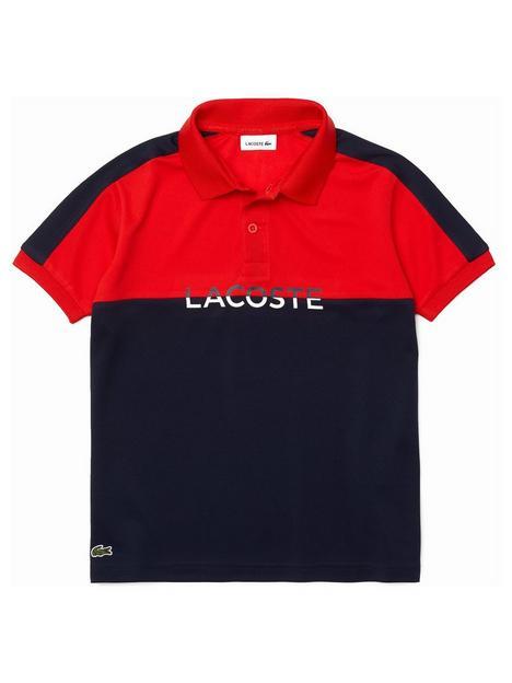 lacoste-boys-colour-block-logo-polo-shirt-rednavy